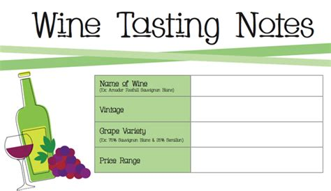 wine tasting template printable wine tasting notes popsugar food