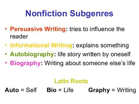 biography genre types types of genres