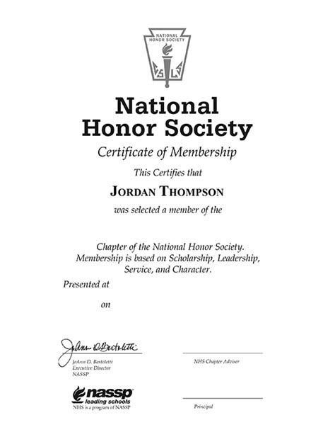 national honor society certificate template national honor society tassel edition certificate frame in