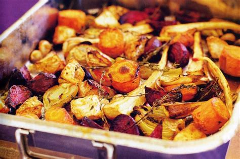 roast with root vegetables roasted root vegetables with fennel garlic thyme recipe