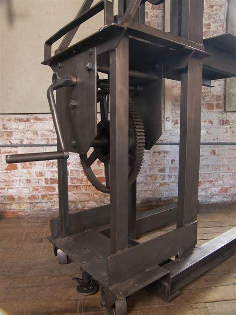 vintage industrial steel manual die lift table at 1stdibs