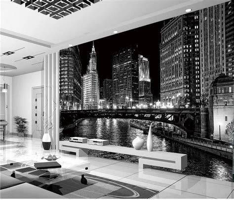 black and white mural wallpaper home decoration window mural wallpaper black and white