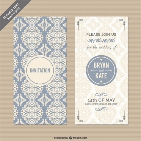 Wedding Invitation Freepik by Cmyk Floral Wedding Invitation Vector Free