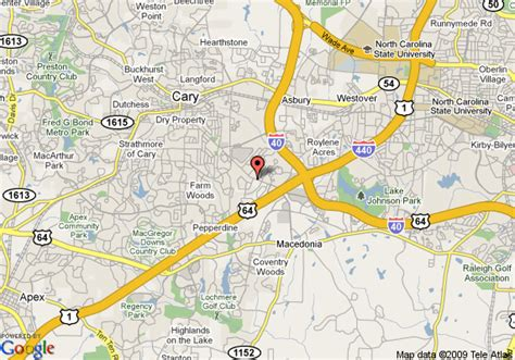 where is cary carolina on map map of best western cary inn extended stay cary