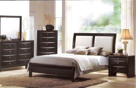 black leather bedroom set acme furniture torino bycast leather black white
