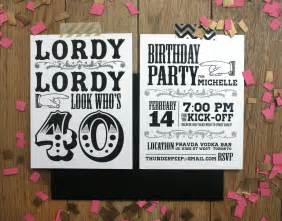 custom 40th birthday invitations