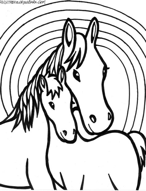 coloring pages of horseshoes horse coloring pages free large images