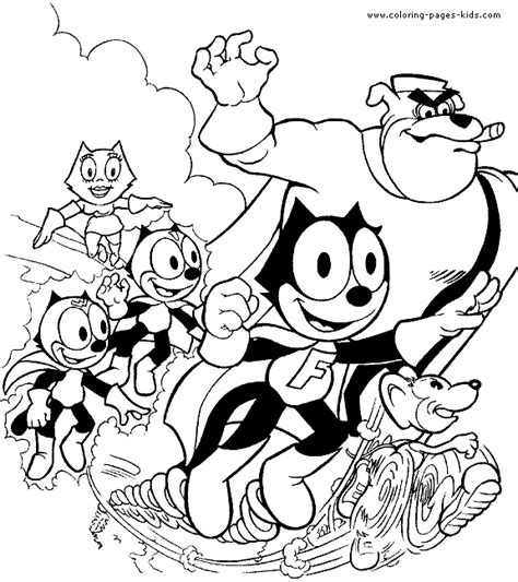 felix the cat color page cartoon color pages printable