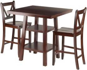 Set Of 3 Counter Height Stools by Orlando 3 Walnut Counter Height Dining Set With V