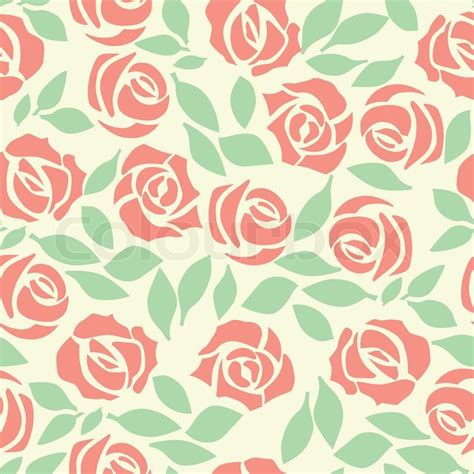 cute background pattern free vector rose seamless flower background pattern floral