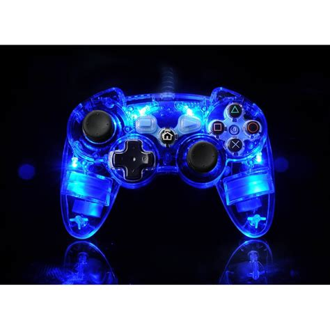 ps3 controller light codes ps3 afterglow light up controller official new ebay