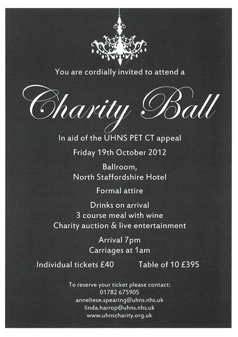 charity dinner invitation letter charity themes charity fairty tale
