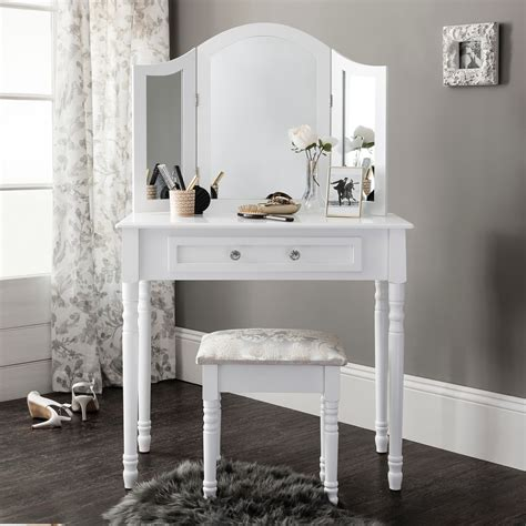 white dressing table white dressing table mirror stool set dresser