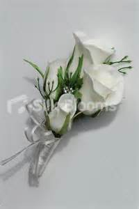 silk corsages shop simple white real touch artificial wedding corsage from silk blooms