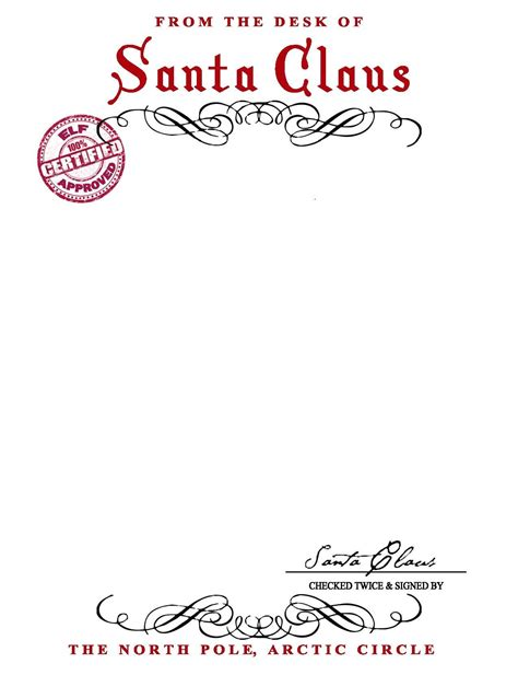 free printable letter from santa word template santa letterhead word template svoboda2
