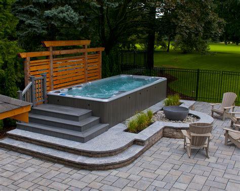 swim spa backyard designs hydropool aqua trainer swim spa www hydropoolmanchester