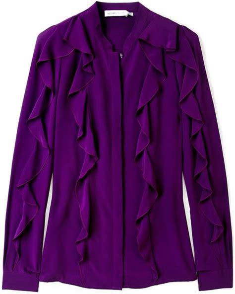 Loe Style Blouse Purple sleeve purple satin blouse collar blouses