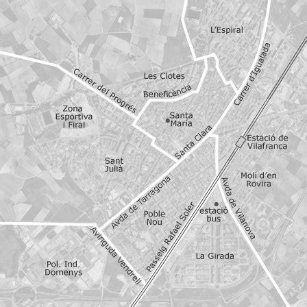 mapa de vilafranca del penedes barcelona viviendas en
