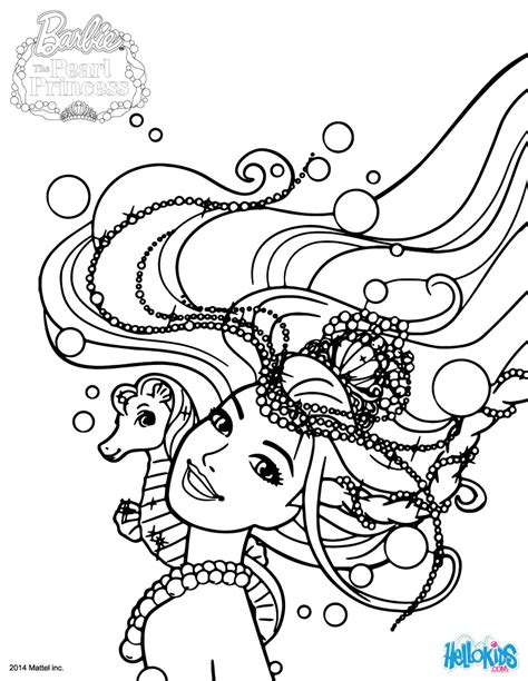 Mermaid Lumina Coloring Pages Hellokids Com Pearl Princess Coloring Pages
