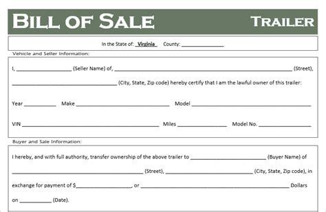 free virginia boat bill of sale good trailer bill of sale template pictures gt gt 7 boat bill