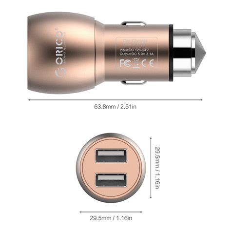 Exclusive Orico Car Charger Dual Usb Ucm 2u Murah Meriah orico car charger dual usb ucm 2u golden jakartanotebook