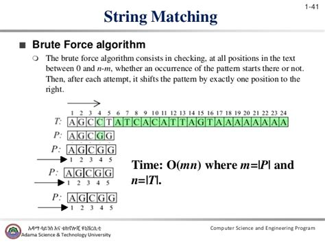 pattern matching algorithm brute force chapter one