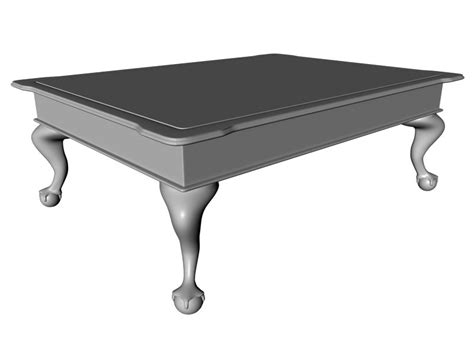 Claw Foot Coffee Table Clawfoot Coffee Table C4d