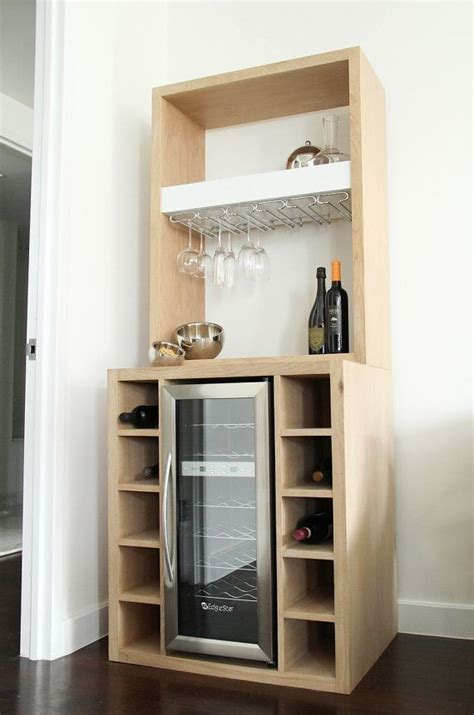 bar cabinet with built in wine cooler white oak bar with built in wine cooler and glass rack