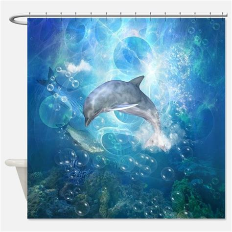 dolphin shower curtains dolphin bathroom accessories decor cafepress