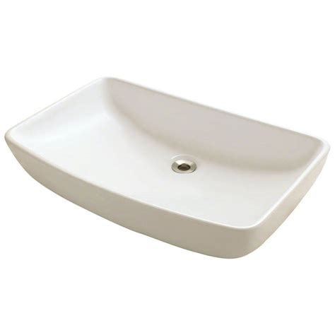 polaris sinks porcelain vessel sink in bisque p053v b