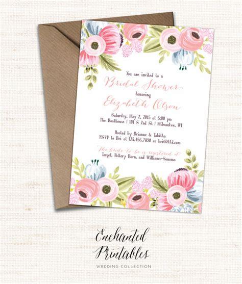 free printable wedding invitation watercolor printable bridal shower invitation printable rustic