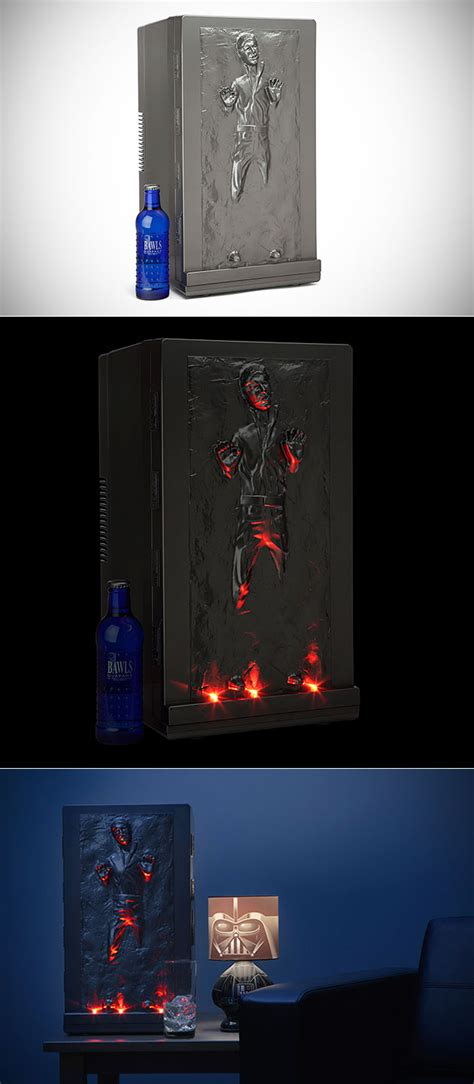 Han Frozen In Carbonite Desk by Han Frozen In Carbonite Fridge Becomes A Reality