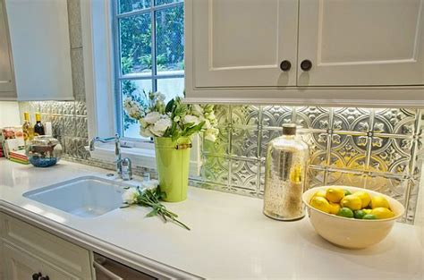 tin backsplash kitchen back to adding pressed tin into your home decor