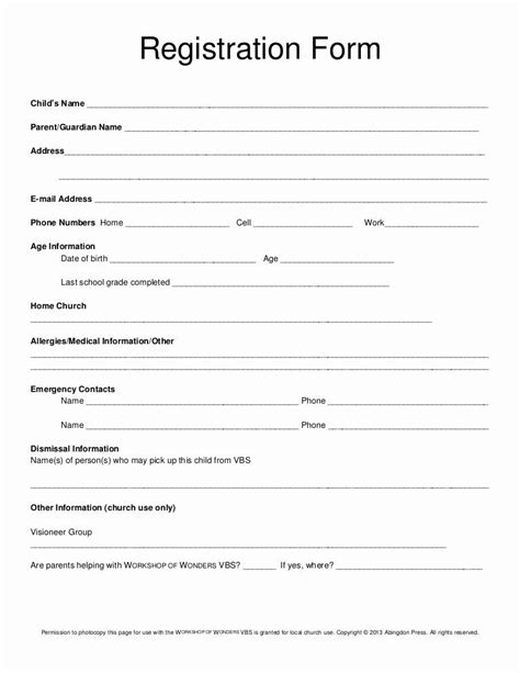 Class Reunion Registration form Template in 2020