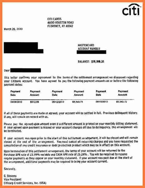 Credit Card Settlement Agreement Letter 9 Credit Card Debt Settlement Marital Settlements Information
