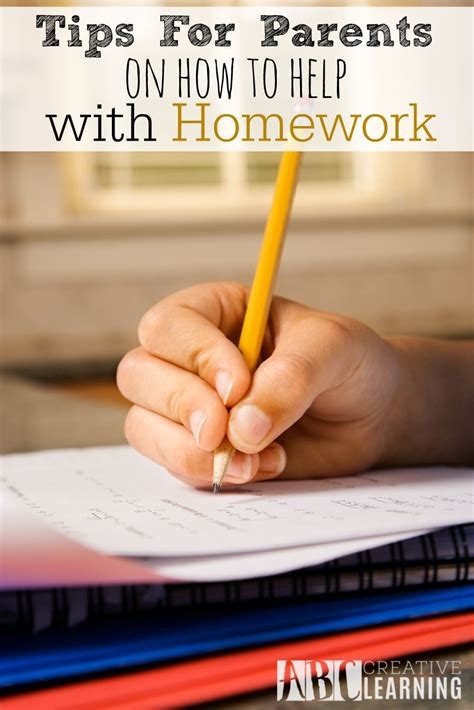 Parent Tips On Homework by Tips For Parents On How To Help With Homework Abc