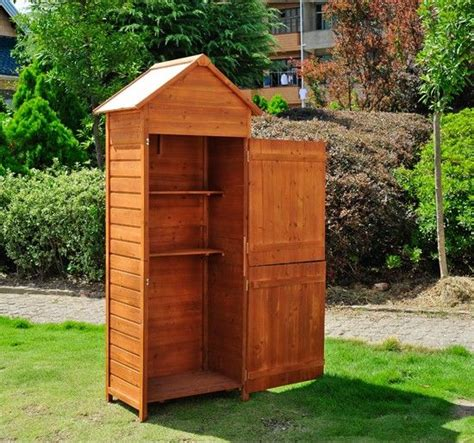 wooden garden shed tool storage cabinet box build