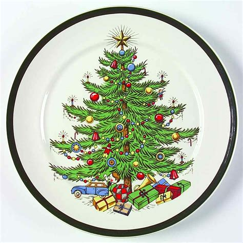 cuthbertson christmas tree salad plate 7074417