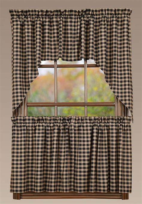plaid swag curtains bingham star plaid window curtain swag