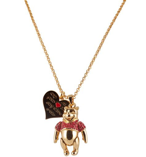 official gold plated swarovski winnie the pooh necklace