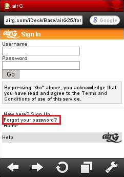 airg mobile how to log in to airg and recover a lost password