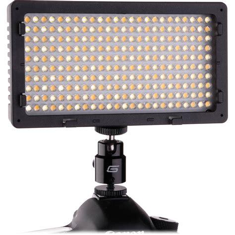 led photography lights amazon genaray led 5700t 240 led variable color on camera led
