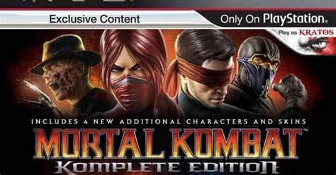 Mortal Kombat Komplete Edition Ps3 mortal kombat komplete edition eur ps3 iso us 4 playstation