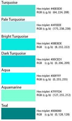 turquoise color code differences between turquoise teal and aqua janet carr
