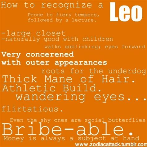 leo characteristics quotes about leos personality quotesgram
