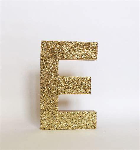sad up letters gold silver glitter stand up letter initial monogram