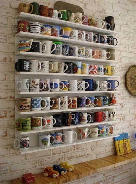 Mug Shelf Kitchen by 20 And Practical Diy Coffee Mugs Storage Ideas For