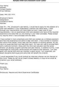 Child Care Aide Cover Letter by Child Care Worker Cover Letter Sle Http Www Resumecareer Info Child Care Worker Cover
