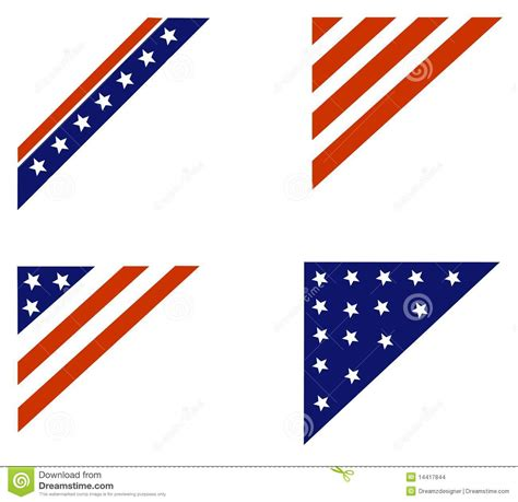 which corner do sts go in patriotic border corner stock images image 14417844