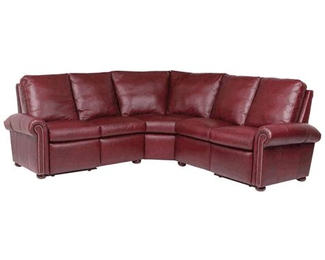 classic leather sectional classic leather kenilworth reclining sectional 11867